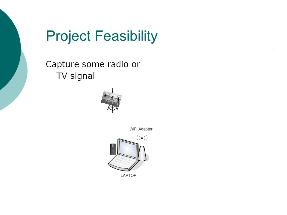 Project Feasibility Capture some radio or TV signal