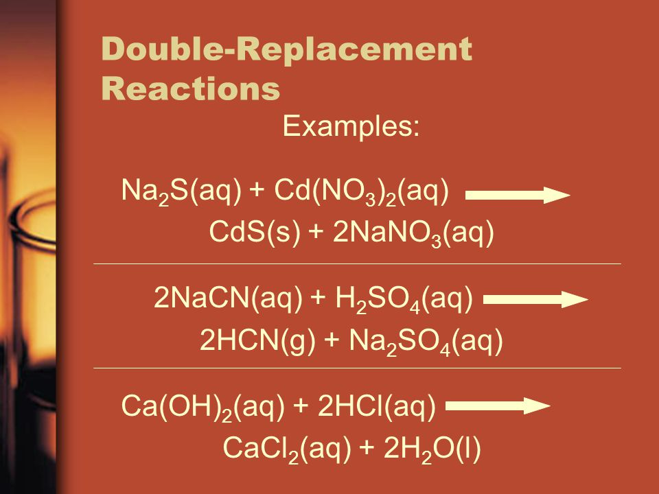 Double-Replacement Reactions