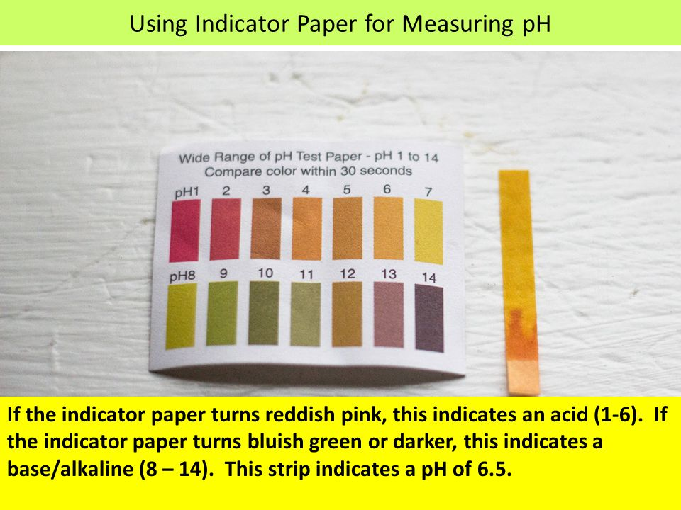 Using Indicator Paper for Measuring pH