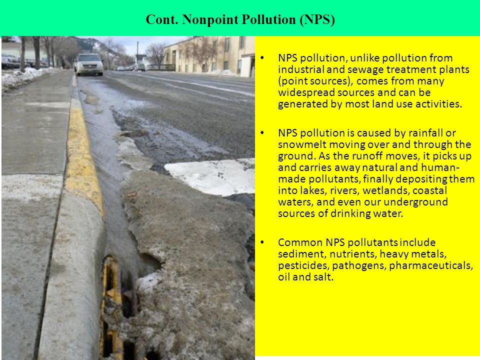 Cont. Nonpoint Pollution (NPS)