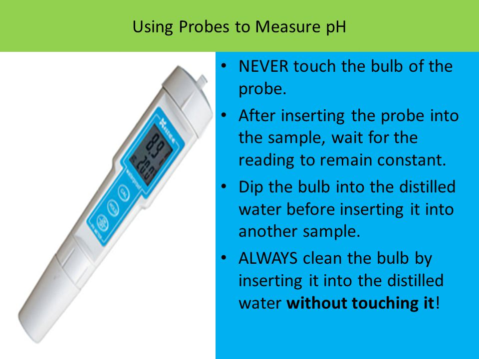 Using Probes to Measure pH