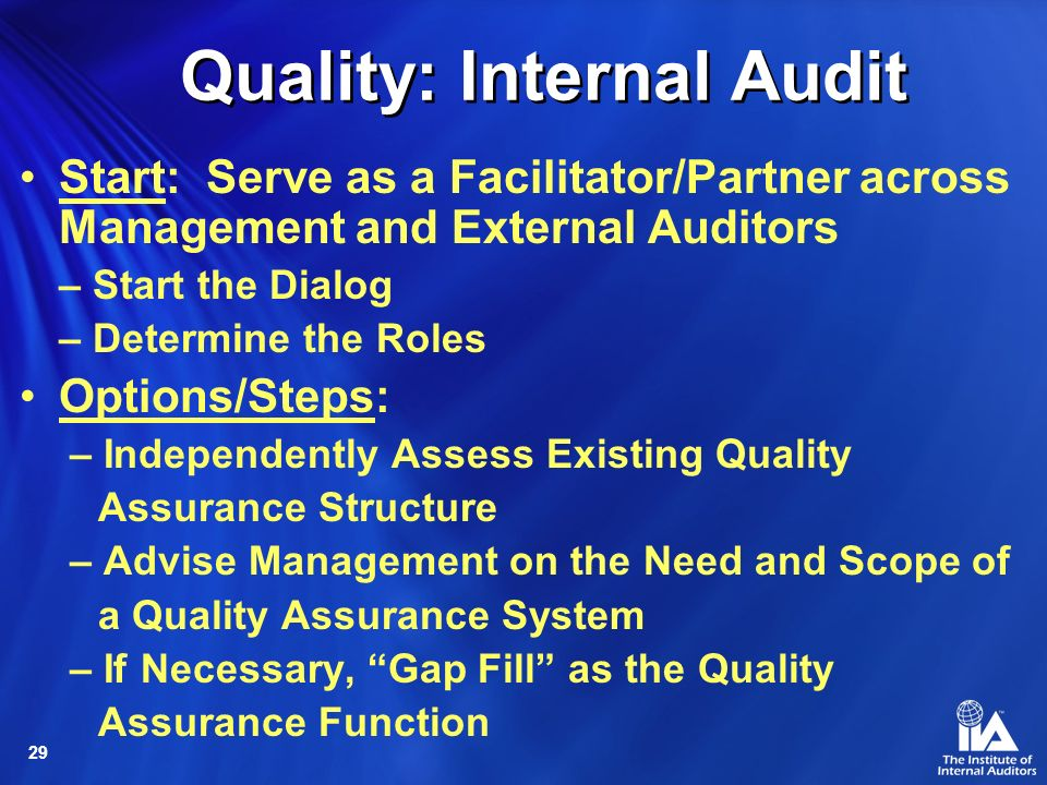Quality: Internal Audit