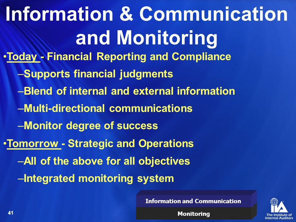 Information & Communication and Monitoring
