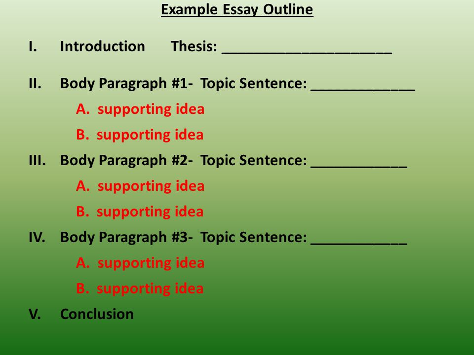 Proposal Argument Essay Example Essay Outline Introduction Thesis Environmental Health Essay also Persuasive Essay Thesis Statement Writing An Outline  Ppt Download English Essay Short Story