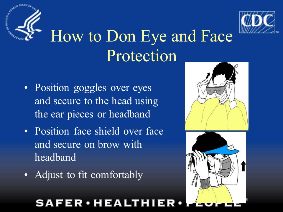 How to Don Eye and Face Protection