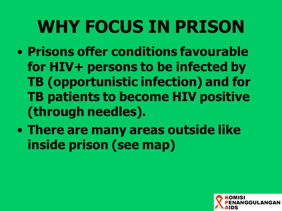 WHY FOCUS IN PRISON