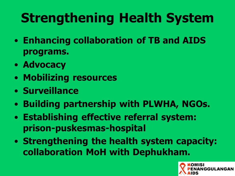 Strengthening Health System