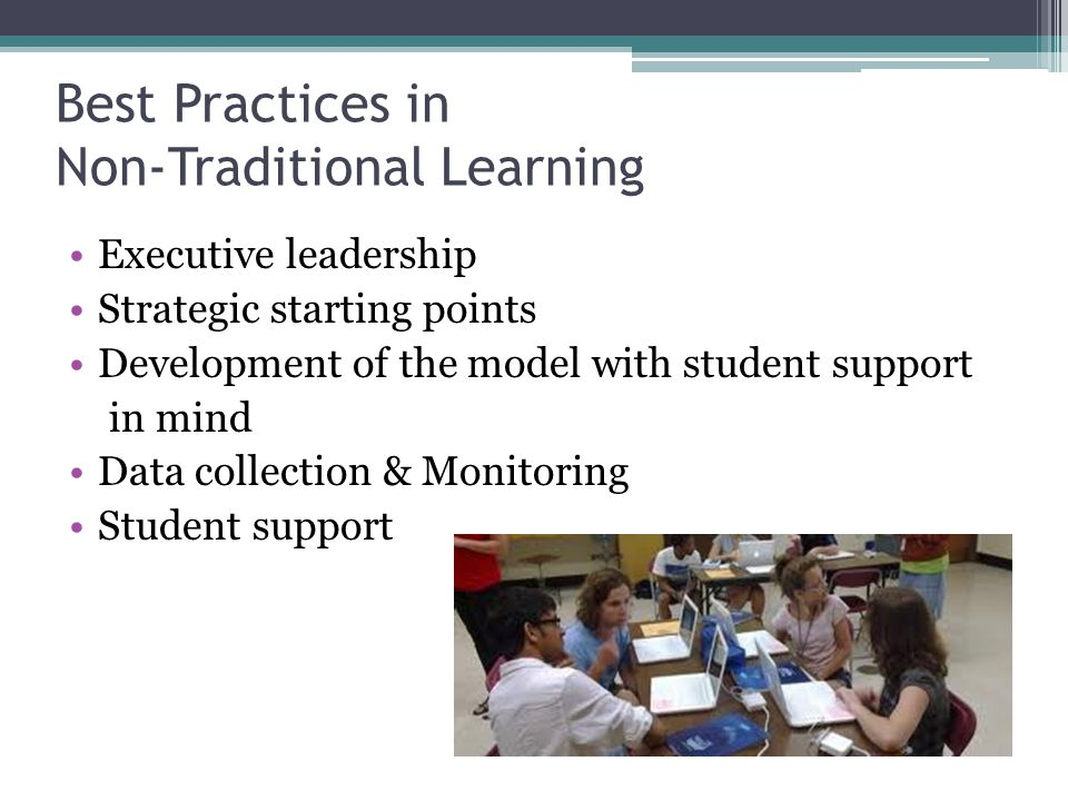 Best Practices in Non-Traditional Learning