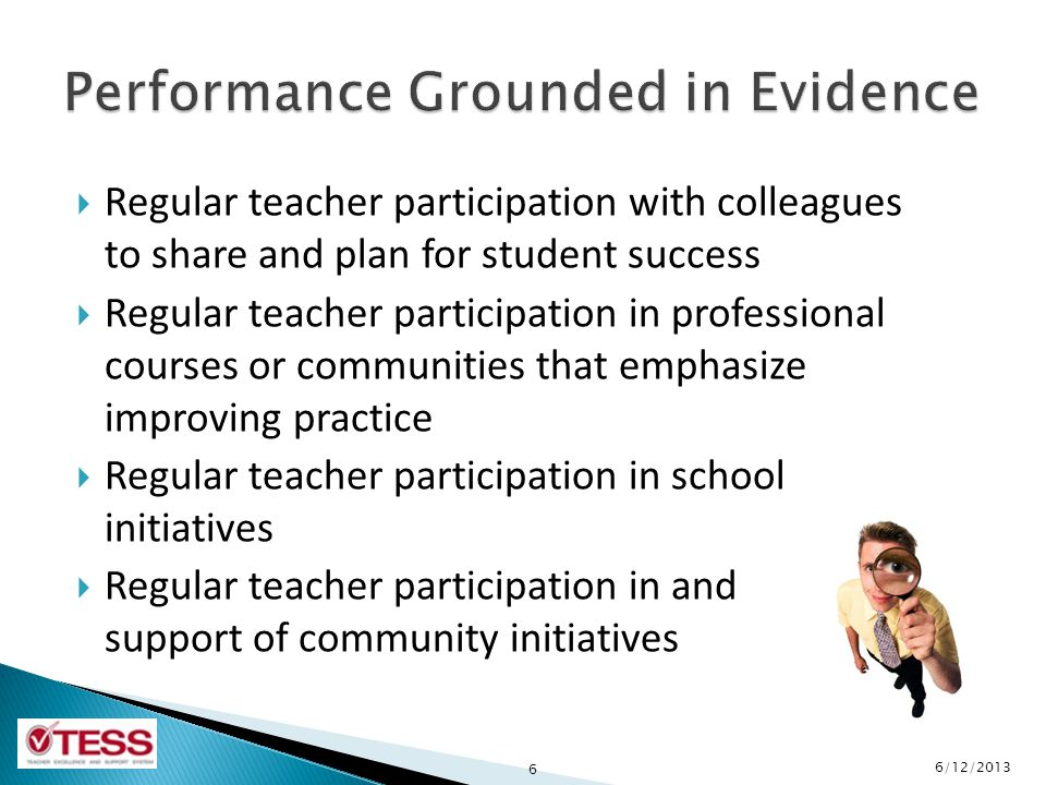 Performance Grounded in Evidence