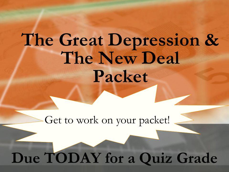 The Great Depression & The New Deal Packet