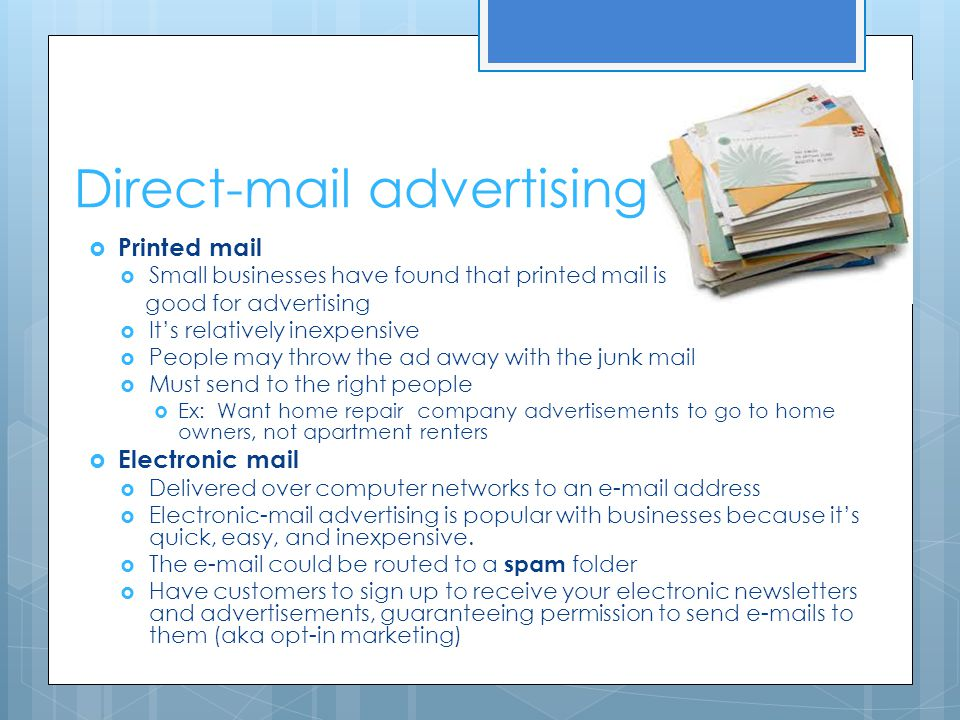 Direct-mail advertising