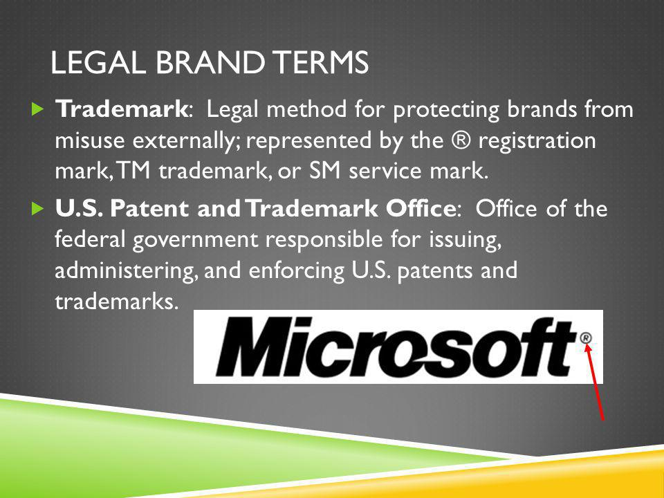 LEGAL BRAND TERMS