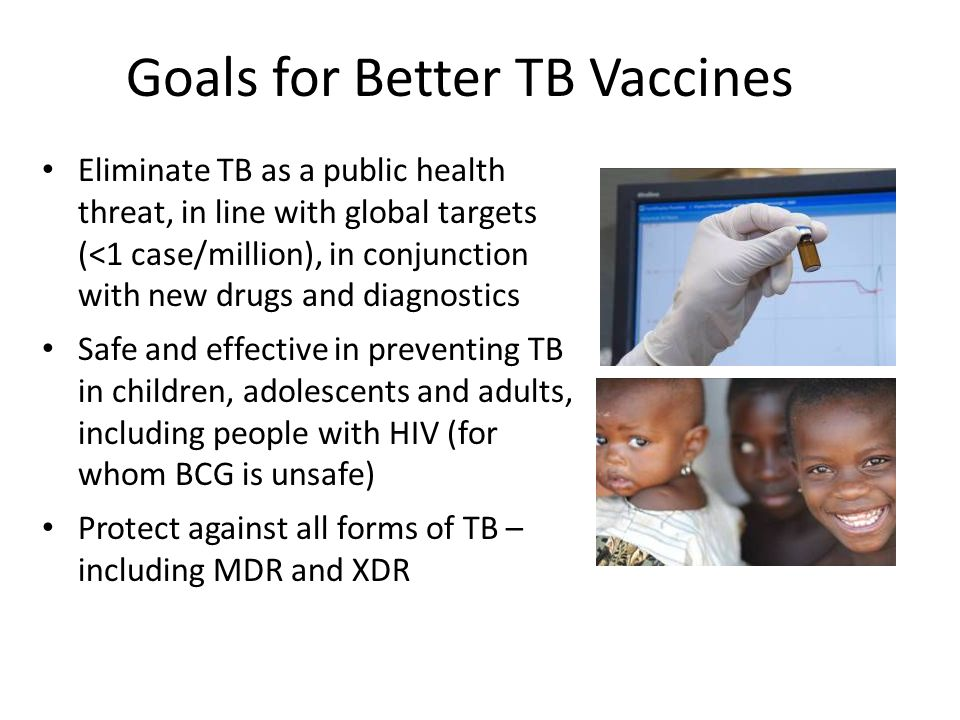 Goals for Better TB Vaccines