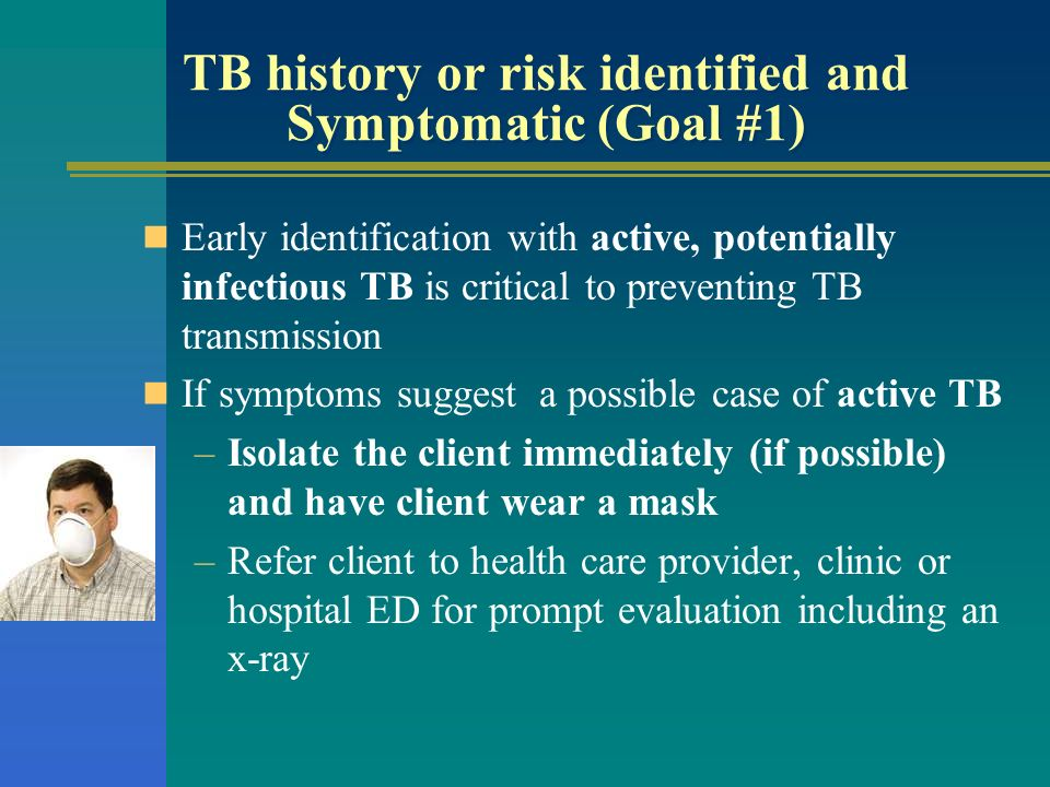 TB history or risk identified and Symptomatic (Goal #1)