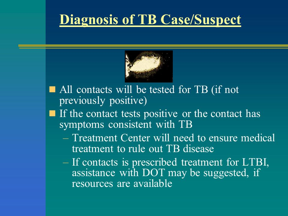 Diagnosis of TB Case/Suspect