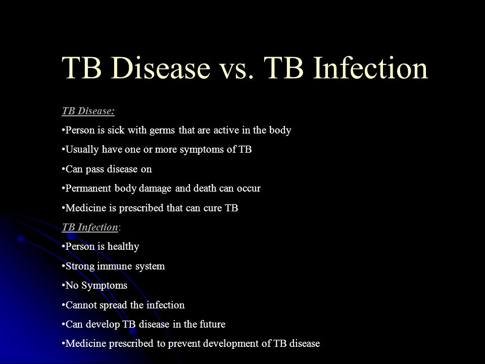 TB Disease vs. TB Infection