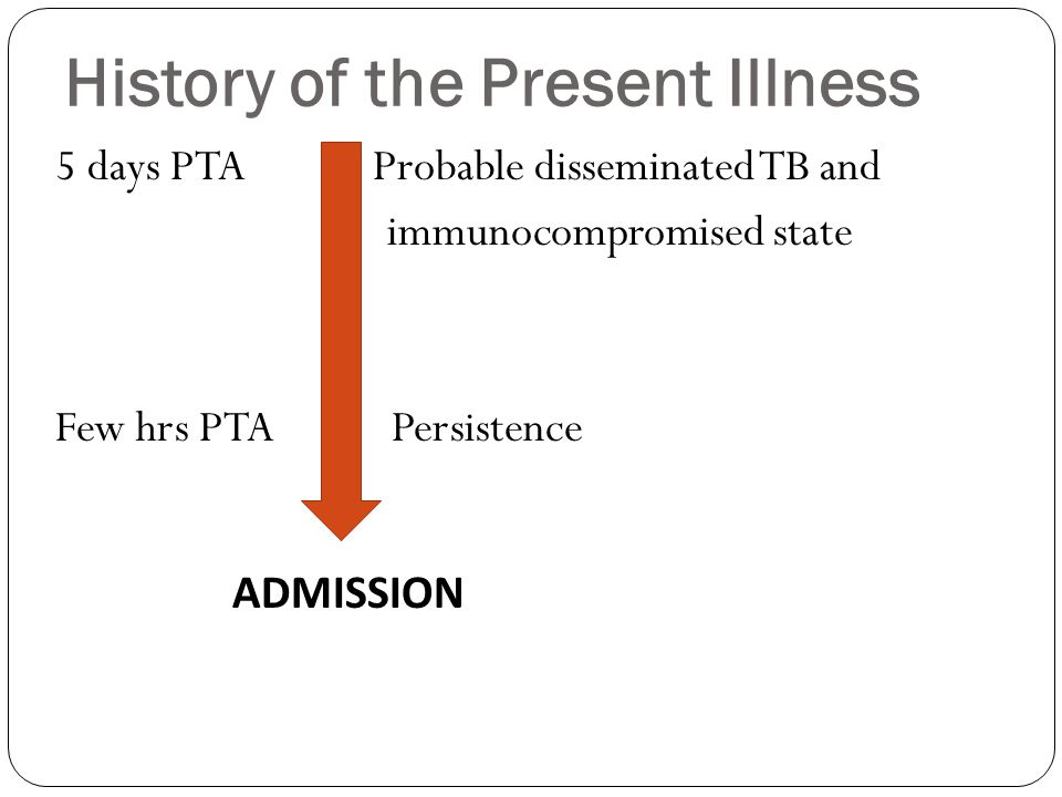 History of the Present Illness