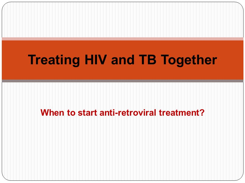 Treating HIV and TB Together