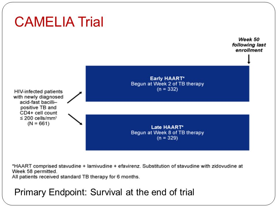 CAMELIA Trial Primary Endpoint: Survival at the end of trial