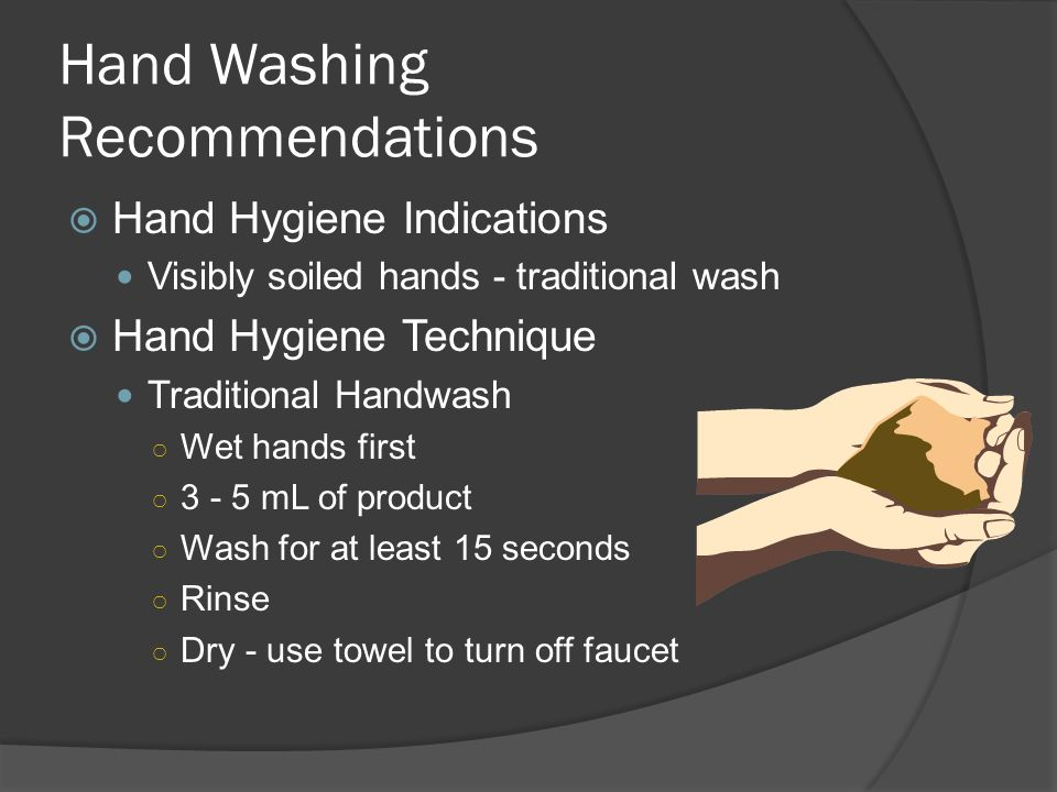 Hand Washing Recommendations