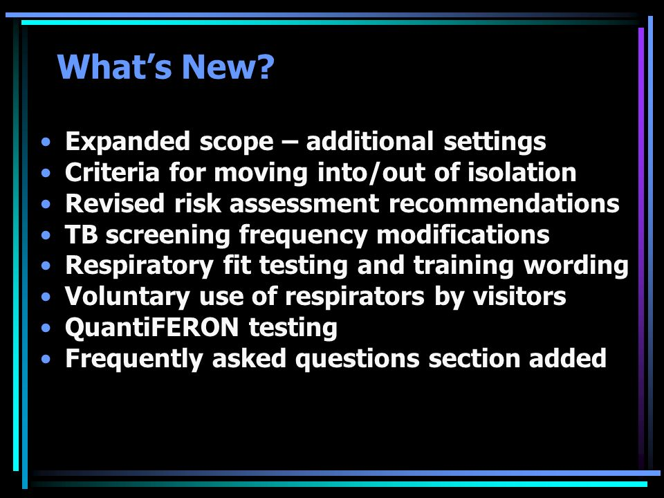 What's New Expanded scope – additional settings