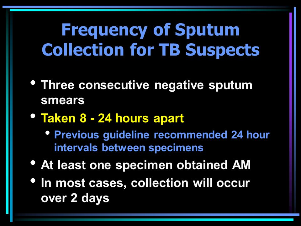 Frequency of Sputum Collection for TB Suspects