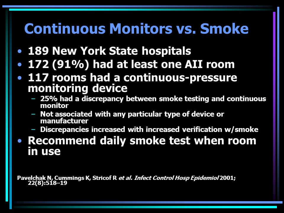 Continuous Monitors vs. Smoke
