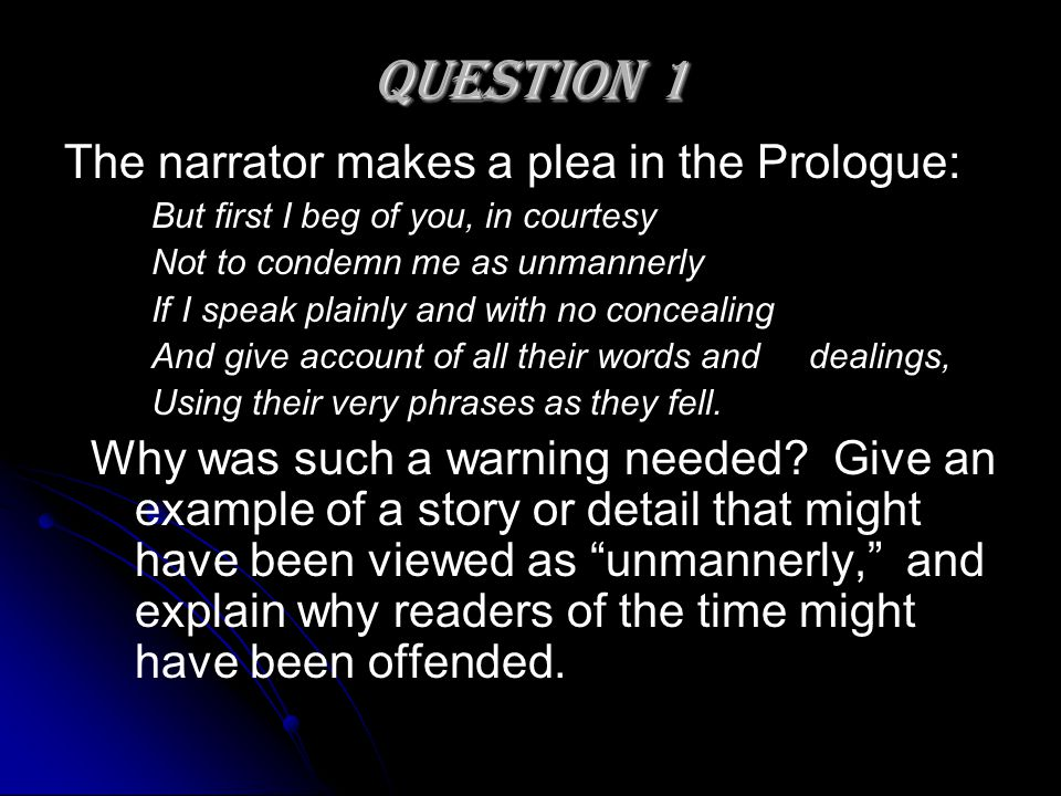 Essay Question On The Canterbury Tales  Ppt Video Online Download Essay Question On The Canterbury Tales  Question