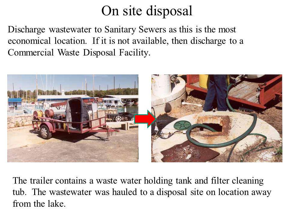 On site disposal