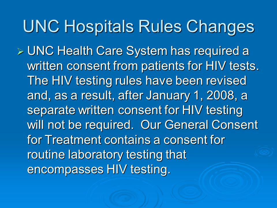 UNC Hospitals Rules Changes