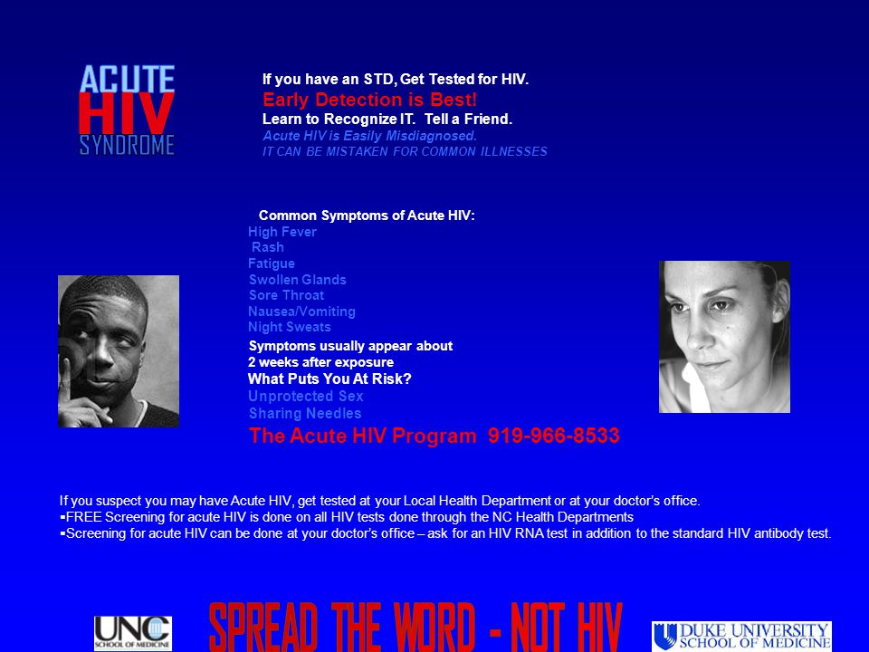 SPREAD THE WORD - NOT HIV
