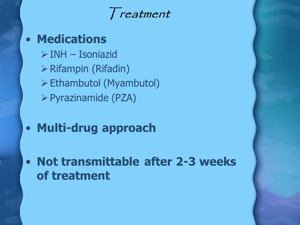 Treatment Medications Multi-drug approach