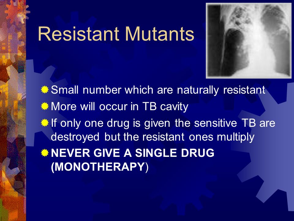 Resistant Mutants Small number which are naturally resistant