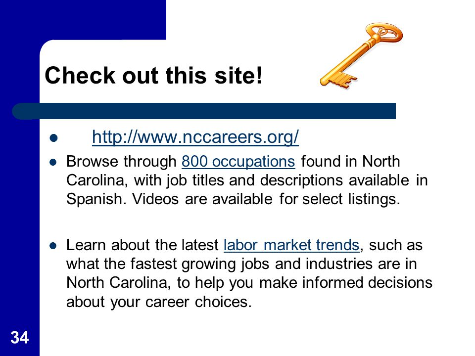Check out this site! http://www.nccareers.org/