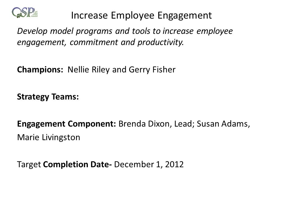 Increase Employee Engagement