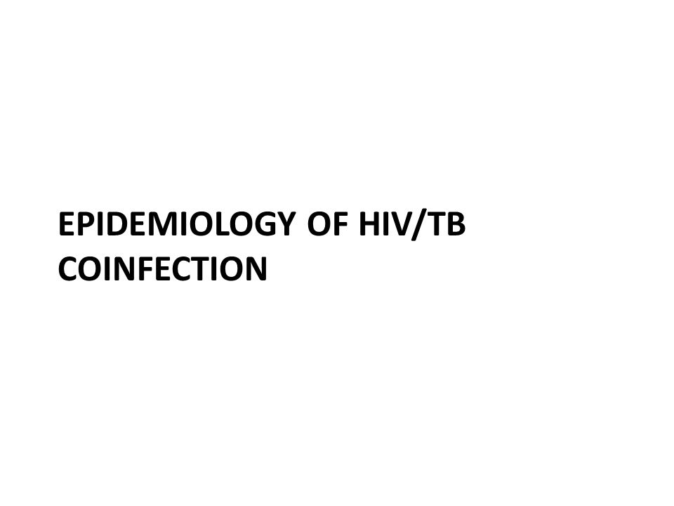 Epidemiology of HIV/TB coinfection
