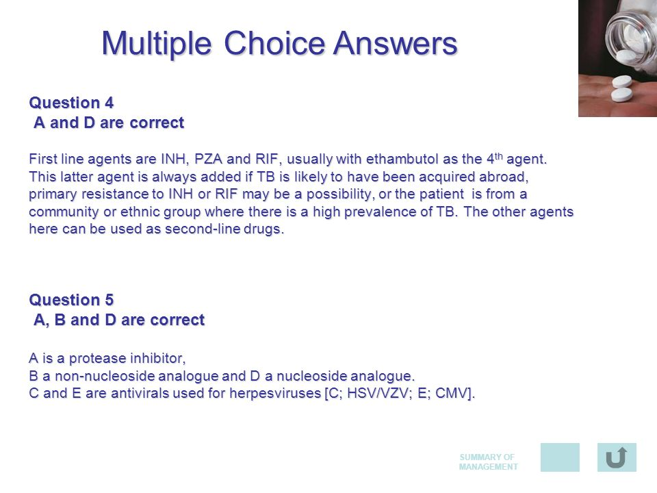 Multiple Choice Answers