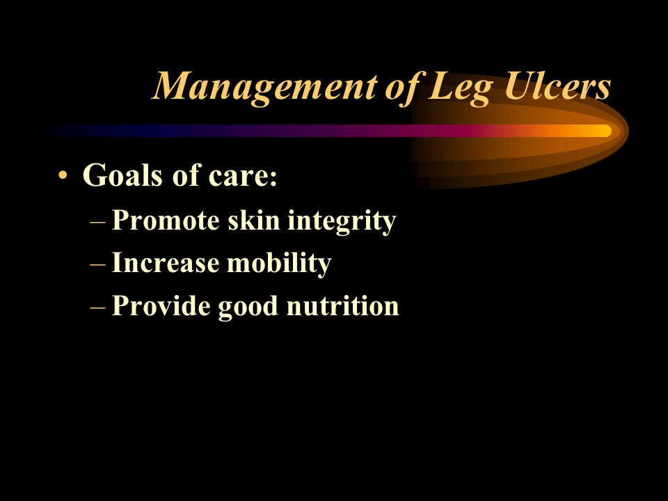 Management of Leg Ulcers