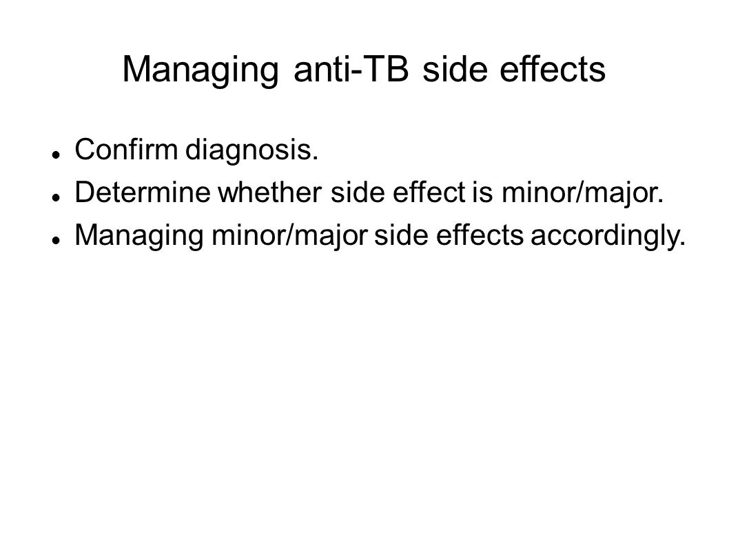Managing anti-TB side effects