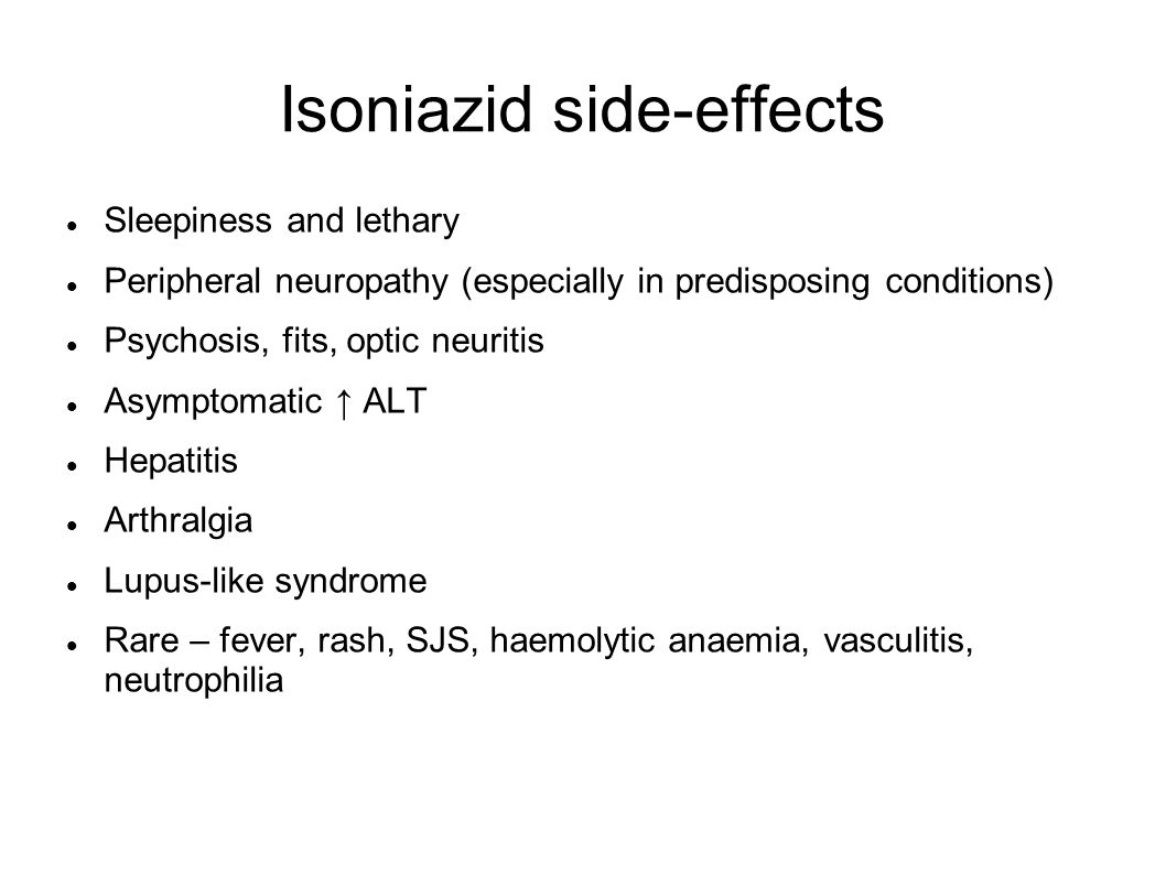 Isoniazid side-effects