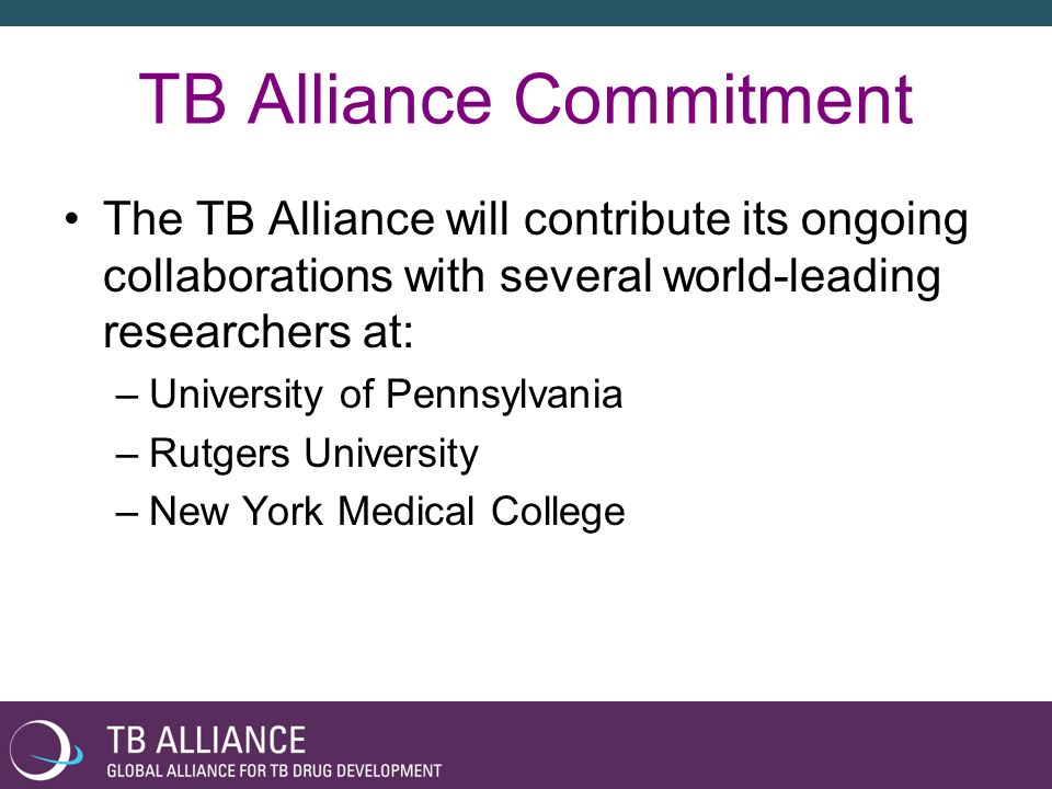 TB Alliance Commitment