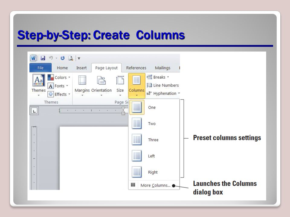 Step-by-Step: Create Columns
