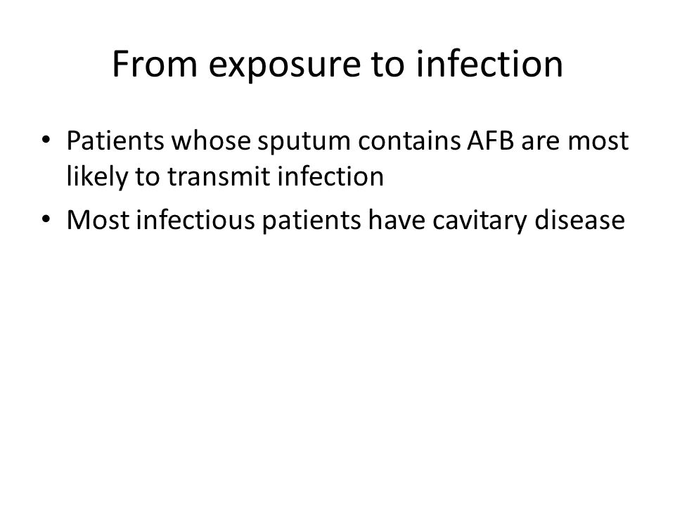 From exposure to infection