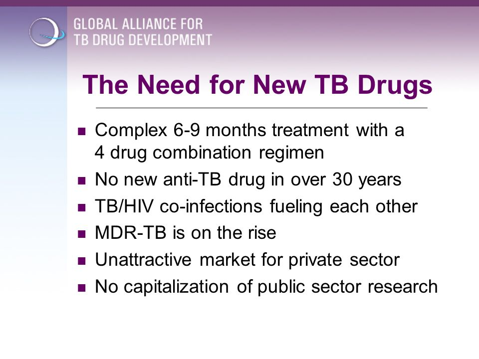 The Need for New TB Drugs