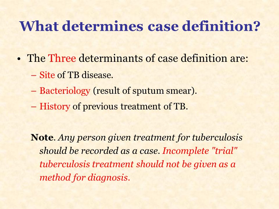 What determines case definition