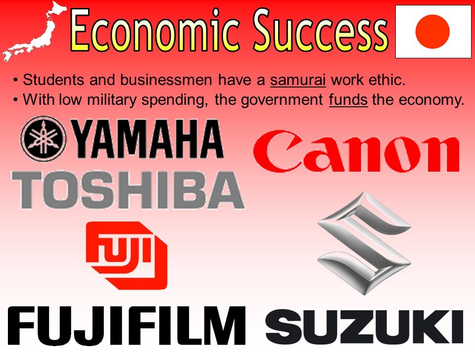 Economic Success Students and businessmen have a samurai work ethic.