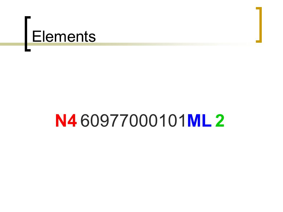 Elements 60977000101 N4 ML 2 Now for on electronic filing