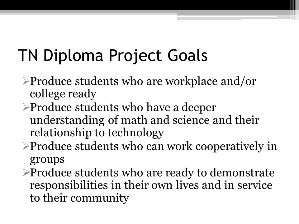 TN Diploma Project Goals