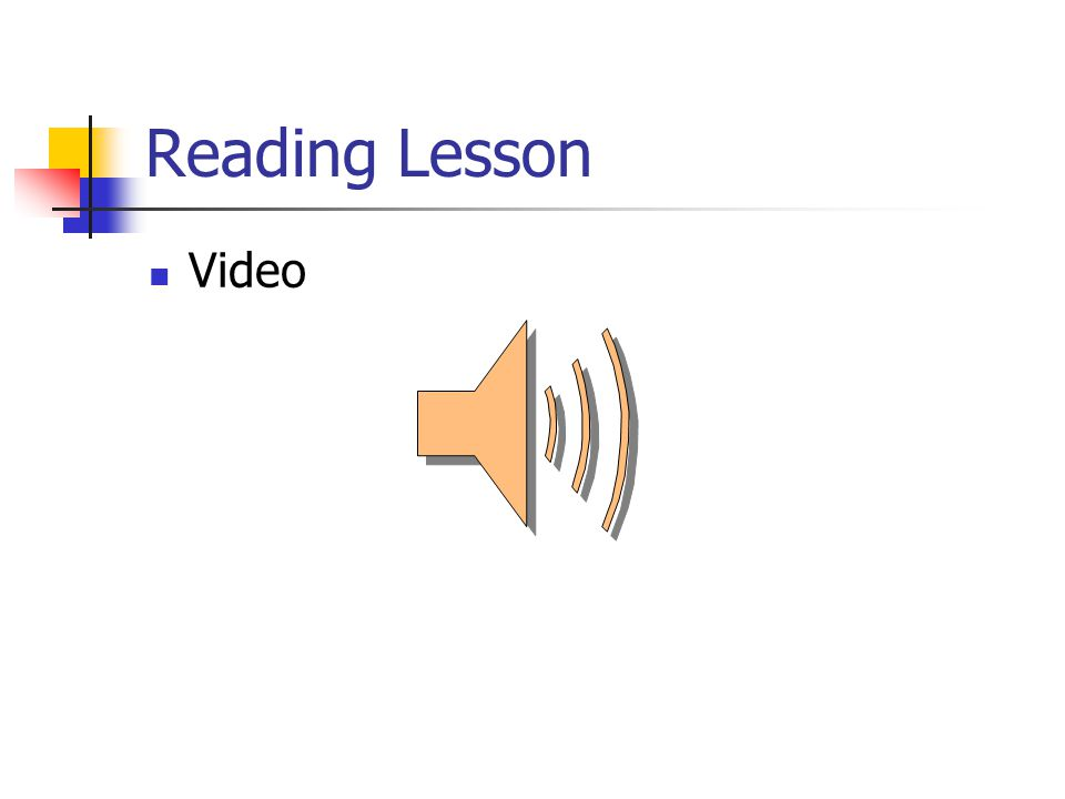 Reading Lesson Video