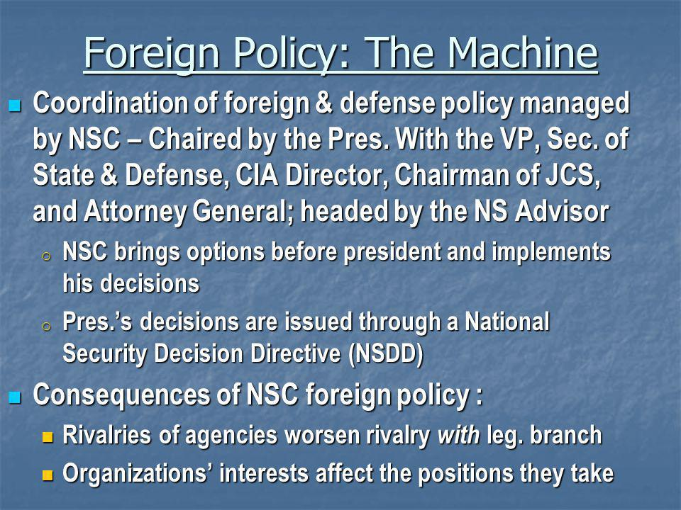 Foreign Policy: The Machine